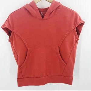 Zella Girl Voyage Hoodie Short Sleeve Sweatshirt